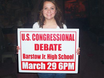 Barstow Congressional Debate