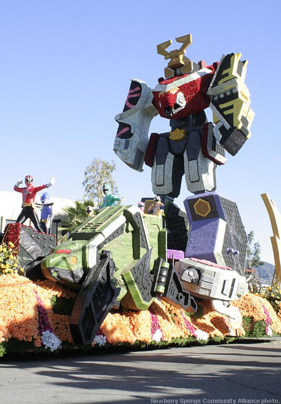 Power Rangers Rose Parade Float 2012